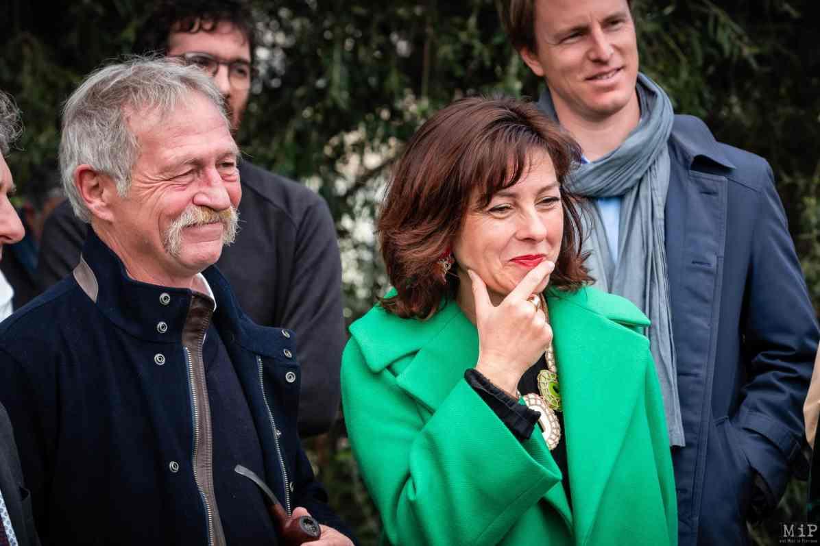 27/02/2020 - José Bové Avec Carole Delga, la présidente de la Région, en visite aux laboratoires de recherche et au domaine agricole biologique de l'Université de Perpignan © Arnaud Le Vu / MiP