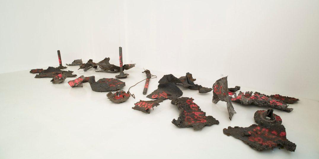 Futur Archéologique, 2012 Yoon-Hee Aciers spéciaux, peinture © Bernard Borgeaud