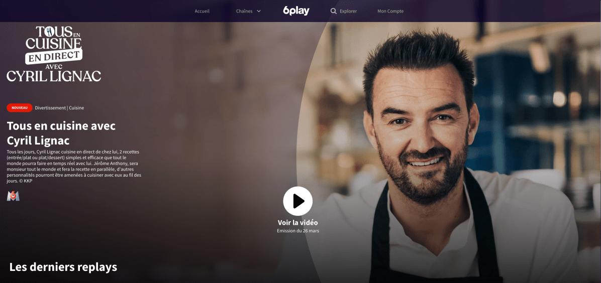 Tous en cuisine Cyril Lignac M6