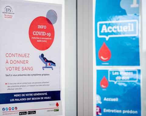 Illustrations Coronavirus don du sang Hopital Perpignan © Arnaud Le Vu / MiP / APM