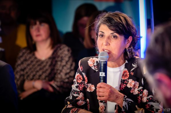 Caroline Forgues Municipales 2020 Perpignan débat L'Indépendant Via Occitanie premier tour © Arnaud Le Vu / MiP / APM