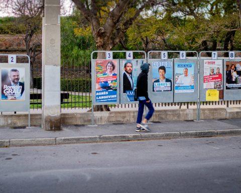Municipales Perpignan - Panneaux du 1er tour