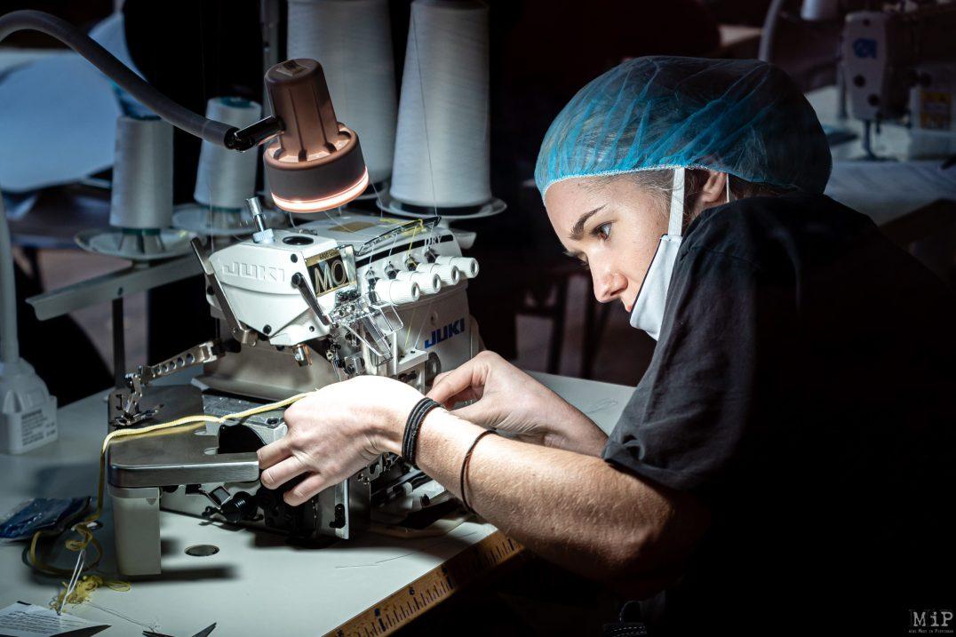 25/04/2020, Perpignan, France, Atelier Père Pigne confection masques tissu économie sociale solidaire © Arnaud Le Vu / MiP / APM