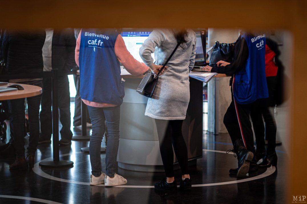 29/11/2019, Perpignan, France Illustation CAF Caisse des Allocations Familiales © Arnaud Le Vu / MiP / APM
