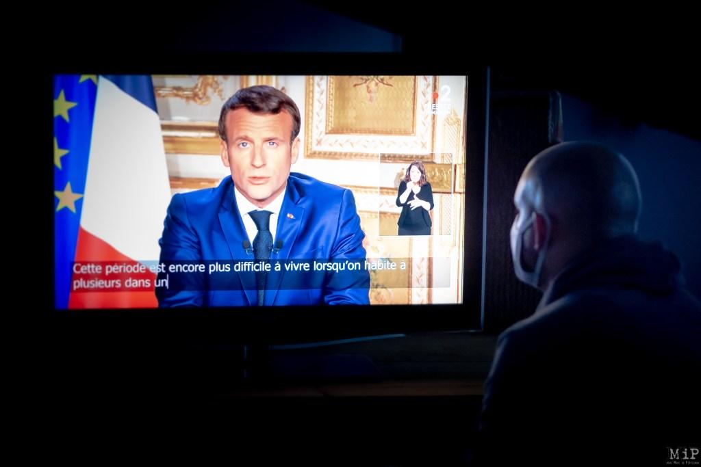 Allocution Emmanuel Macron 13 avril Coronavirus déconfinement 11 mai © Arnaud Le Vu / MiP / APM