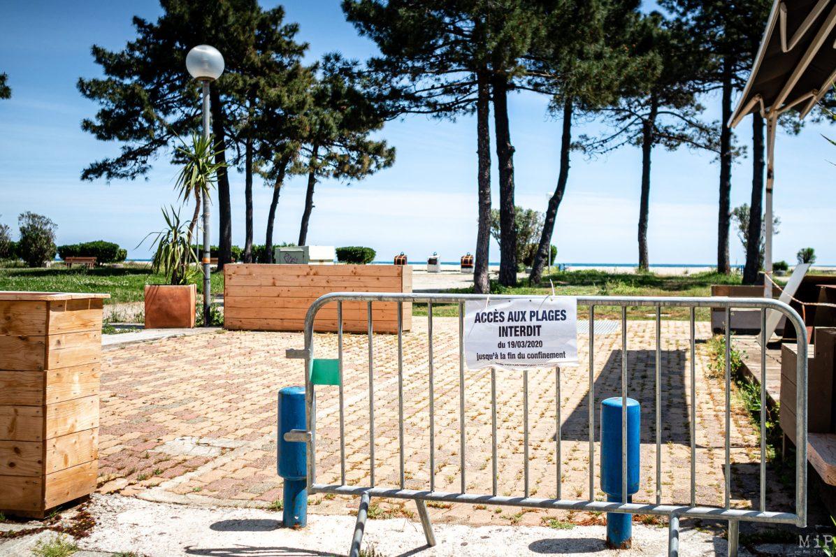 07/05/2020, Argelès-sur-Mer, France, Illustration déconfinement interdiction plages, bord de mer, terrasses des cafés et restaurants © Arnaud Le Vu / MiP / APM