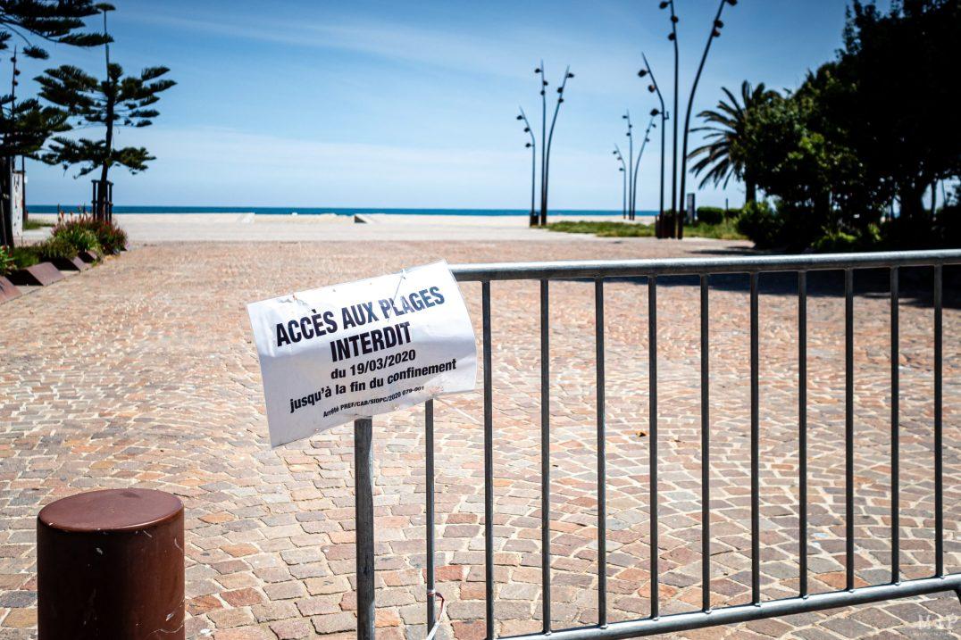 07/05/2020, Argelès-sur-Mer, France, Illustration déconfinement interdiction plages, bord de mer, terrasses des cafés et restaurants / deconfinement banning beaches, seaside, café and restaurant terraces © Arnaud Le Vu / MiP / APM