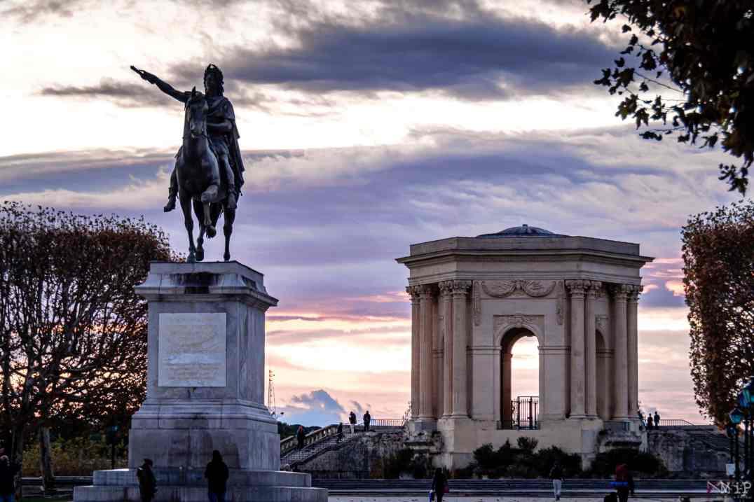10/11/2017, Montpellier, France, Illustrations centre historique Comédie Peyrou