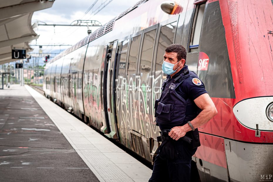 15/05/2020 Perpignan, France, Illustration SNCF Covid-19 © Arnaud Le Vu / MiP