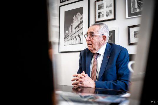 16/01/2020, Perpignan, France, Archives Jean-Marc Pujol interview campagne municipales Perpignan LR Les Républicains