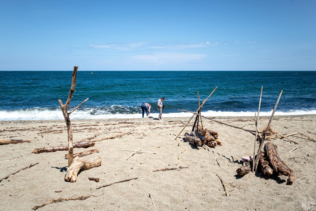 17/05/2020, Argeles-sur-Mer, France, deconfinement littoral plages dynamiques controle gendarmerie © Arnaud Le Vu / MiP / APM