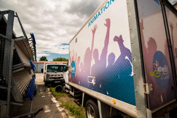 Les gradins et le camion ne seront pas sortis cet été à cause de la crise sanitaire, à Argelès-sur-Mer.