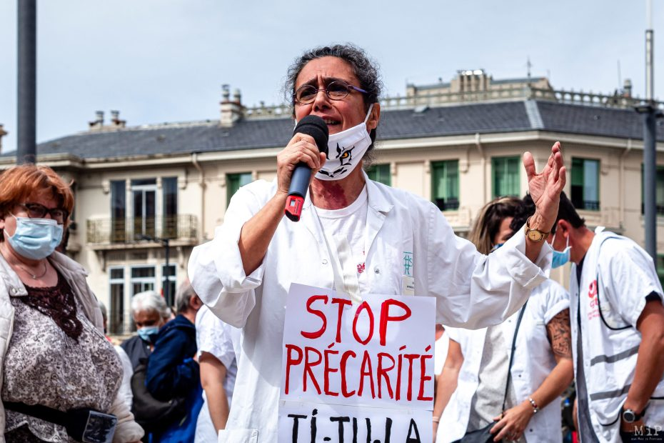 16/06/2020, Perpignan, France, Manifestation soignants hôpital public et privé © Arnaud Le Vu / MiP / APM