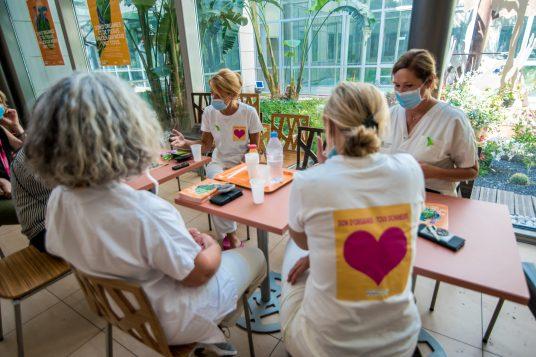 Personnel soignants mobilisés pour le don d'organes. Photographie © Stephane Ferrer Yulianti