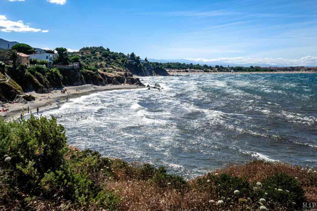 06/07/2020, Argeles-sur-Mer, France, Les criques de Porteils chemin cotier vers Collioure