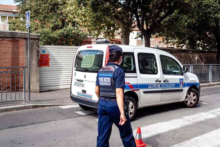 15/09/2020, Perpignan, France, Louis Aliot annonce mesures securite © Arnaud Le Vu / MiP