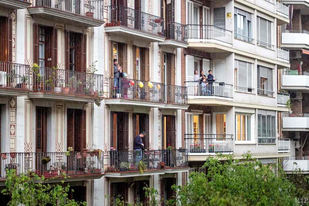 04/2020, Barcelona, Spain, appartements durant le confinement