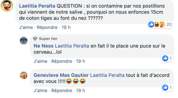 Commentaires anti-masques sur Facebook