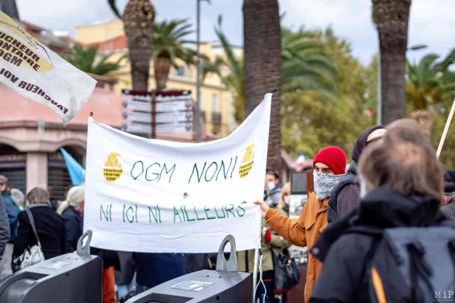 15/10/2020, Perpignan, France, Manifestation procès anti-OGM © Arnaud Le Vu / MiP