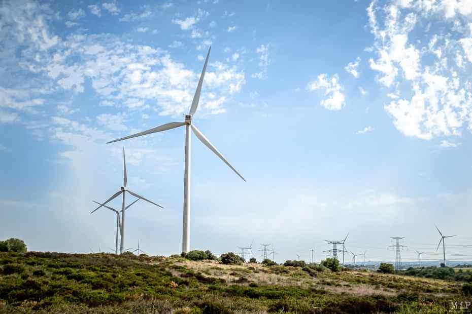 Calce Col de la Dona éoliennes Ecoparc catalan
