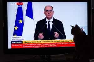 Jean Castex annonce le couvre-feu dans 38 départements de France © Arnaud Le Vu / MiP