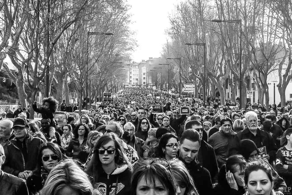 Perpignan, Janvier 2015, manifestation suite aux attentats à Paris © Arnaud Le Vu / MiP
