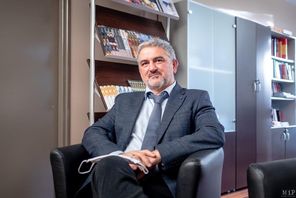 27/01/2021, Perpignan, France, Yvan Auguet, président de l'Université UPVD © Arnaud Le Vu / MiP