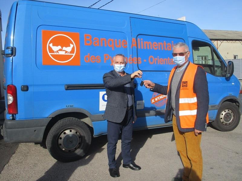 Don par GRDF d'un véhicule à la Banque Alimentaire des Pyrénées-Orientales