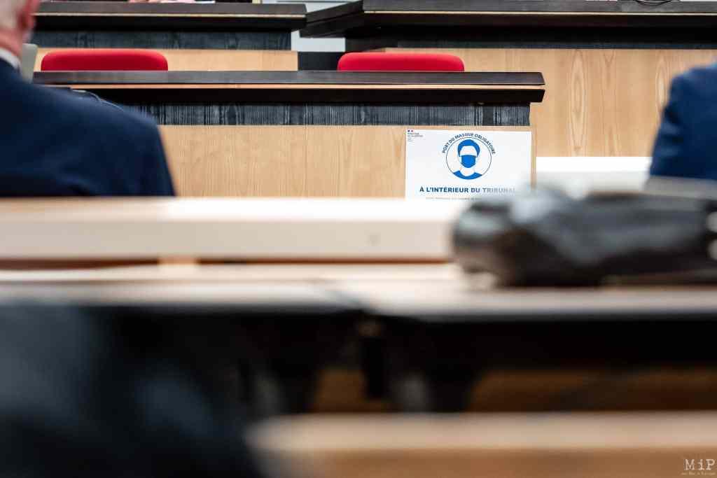 05/02/2021, Perpignan, France, Rentrée solennelle tribunal de commerce grande instance prud'hommes © Arnaud Le Vu / MiP