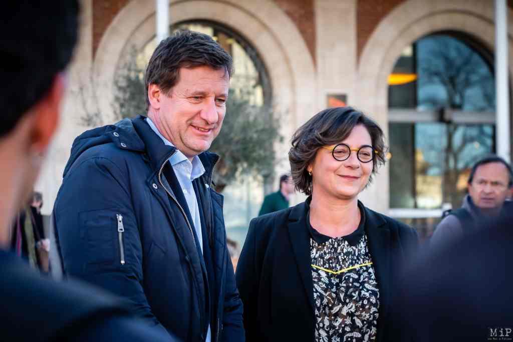 ARCHIVES 31/01/2020 Perpignan, France, Yannick Jadot au meeting Agnès Langevine campagne municipales Perpignan EELV Europe Ecologie Les Verts © Arnaud Le Vu / MiP