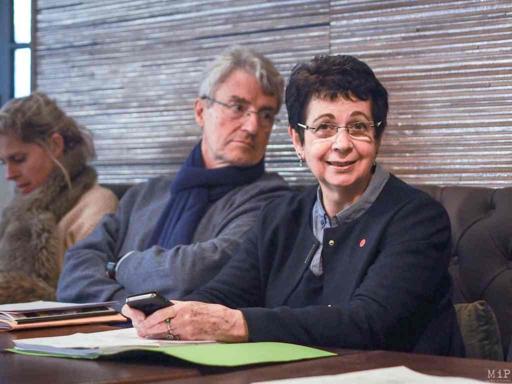 07/02/2018, Perpignan, France, Marie-Thérèse Costa Fesenbech réunion élus municipaux opposition RN© Arnaud Le Vu / MiP