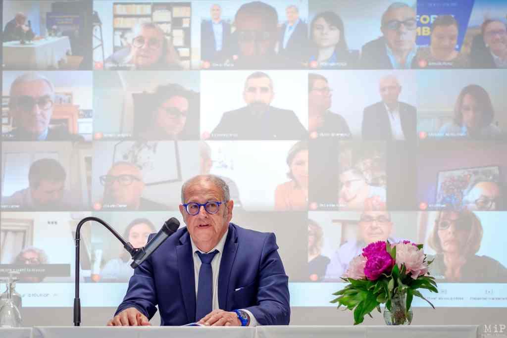 07/05/2021, Perpignan, France, Jean Sol liste Plus Forts Ensemble élection Départementales © Arnaud Le Vu / MiP