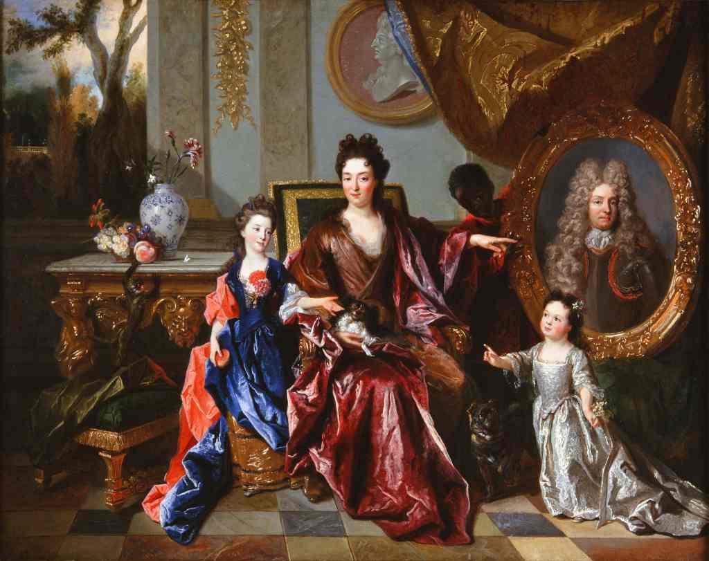 Nicolas de Largillierre (1656-1746). La marquise de Noailles et ses enfants,1698. Collection particulière. Photo © Château de Parentignat / David Bordes.