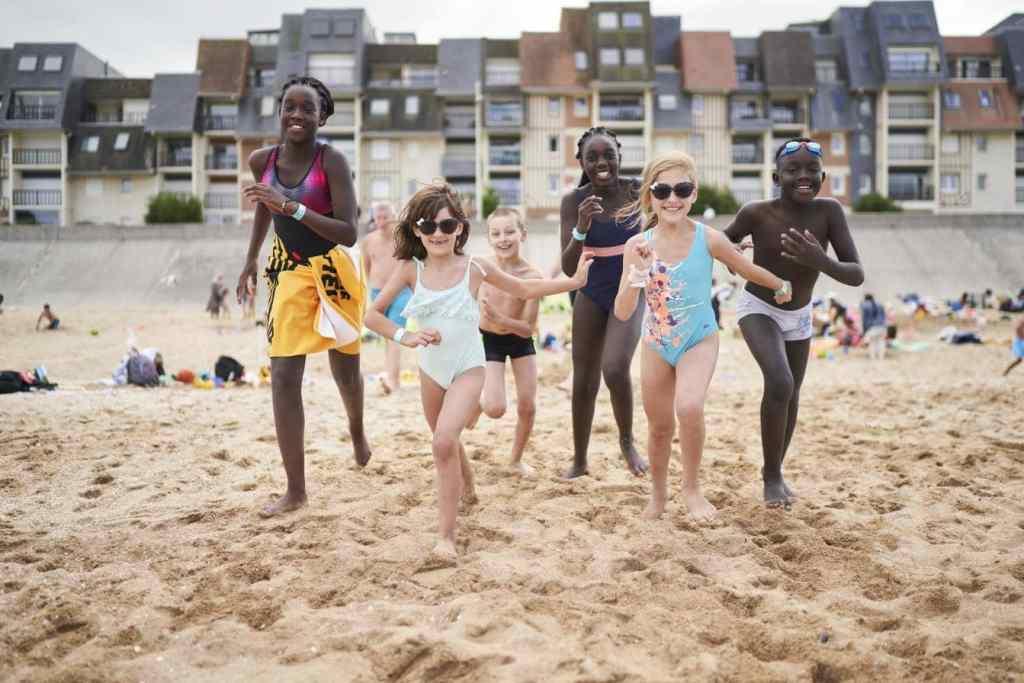 Journée des oubliés des vacances à Cabourg en août 2020 © Christophe Da Silva / SPF