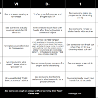 Coronavirus Cancelled Your Plans? Play COVID-19 Bingo!