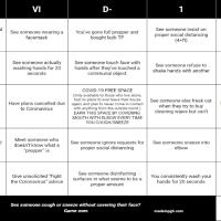 Coronavirus Cancelled Your Plans? Play COVID-19 Bingo!
