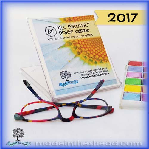 nature art cd case calendar by made in the shea'd