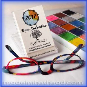 2017 mini cd case calendar by made in the shea'd