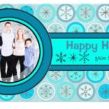 blue-snowflake-circles-holiday-photo-card-zazzle