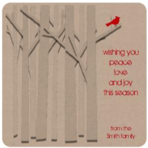 trees-and-cardinal-eco-friendly-flat-kraft-card-zazzle