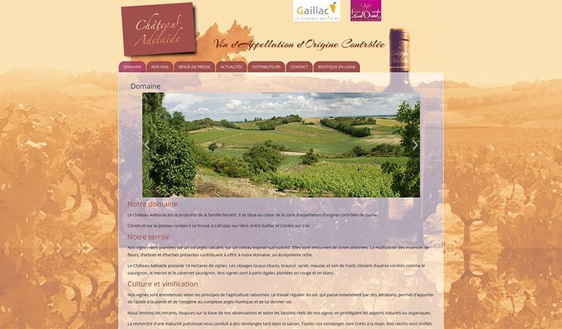 Château Adélaïde - Un site réalisé et hébergé par Made in Web
