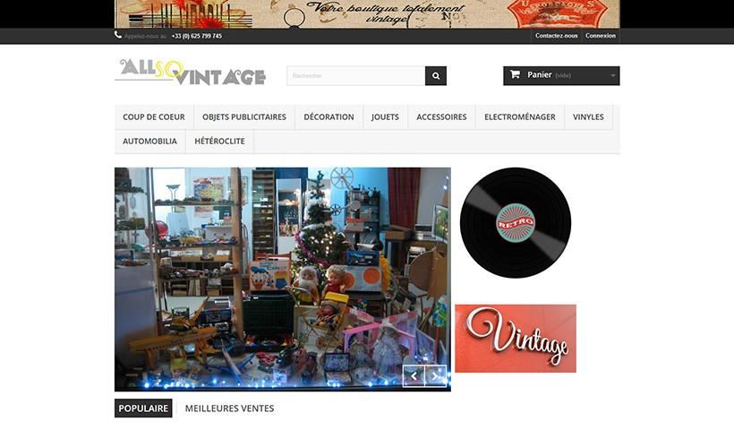 All So Vintage - Un site réalisé par Made in Web