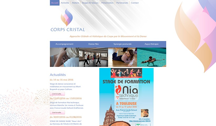 Corps Cristal - Un site réalisé par Made in Web