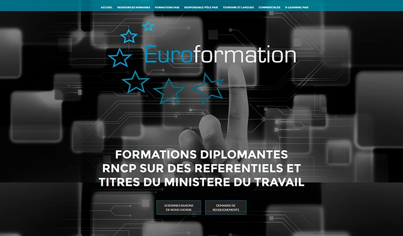 Euroformation - Un site réalisé par Made in Web