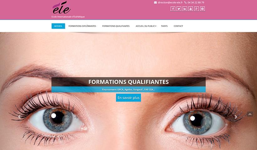 Ecole EIE - Un site réalisé par made in Web