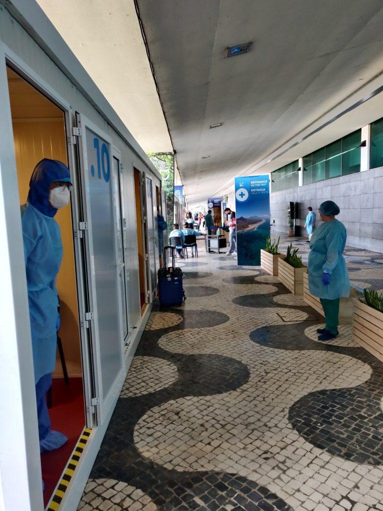 Health corridor at the airport
