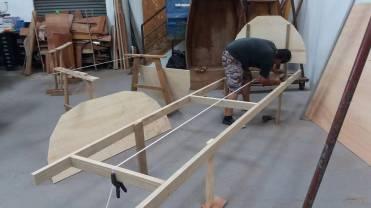 montando o picadeiro da baleeira