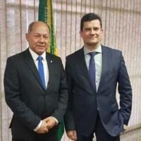 Em reunião com Moro, Chrisóstomo solicita helicóptero para segurança do Estado