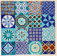 Moroccan Inspired Hand Painted Ceramic Tiles for ...