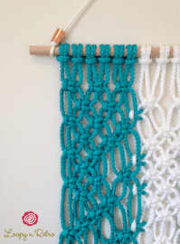Modern Macrame Wall Hanging (Knotted Rope, Wall Art, Retro ...